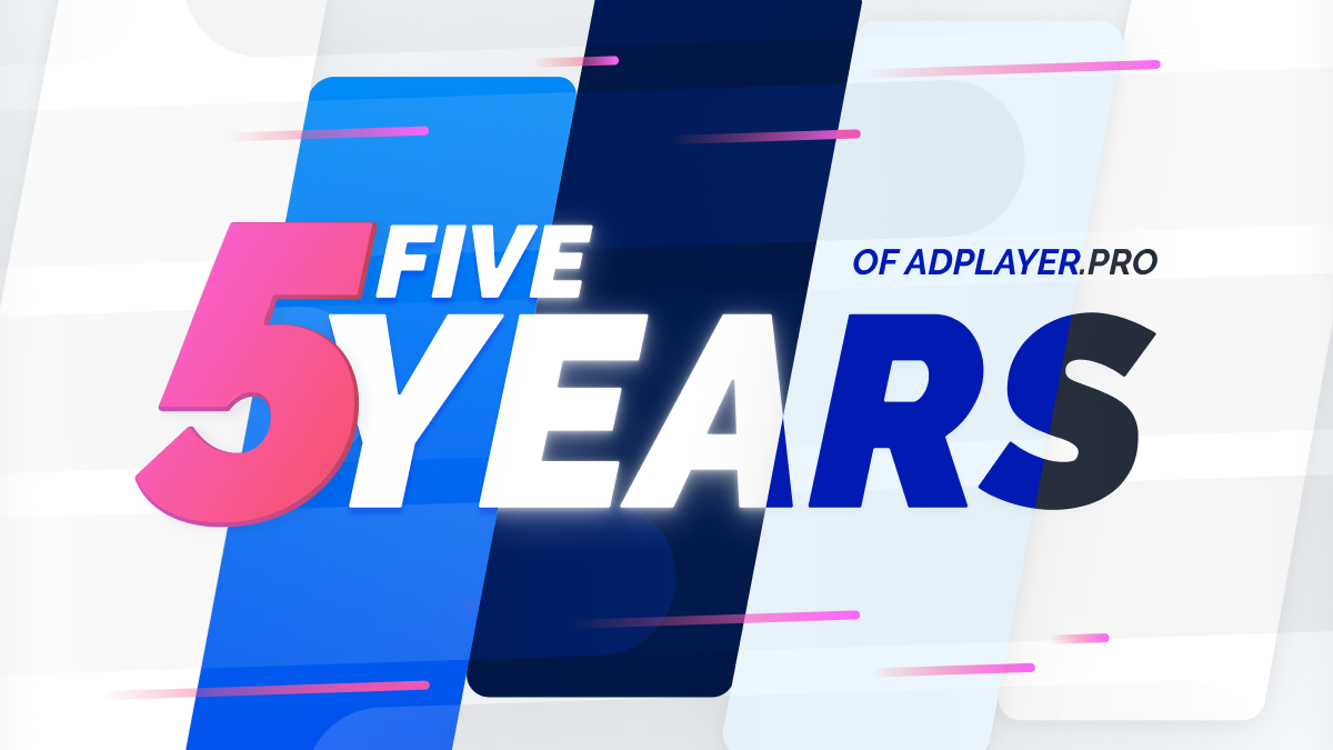 [INFOGRAPHIC] Five Years of AdPlayer.Pro in Review